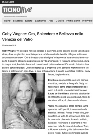 ticino live writes about Gaby Wagner