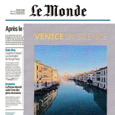 le monde annouces Venice in Silence