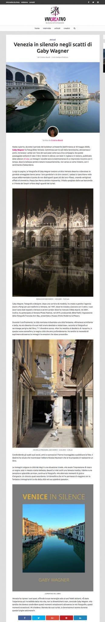 Venezia in silenzio negli scatti di Gaby Wagner